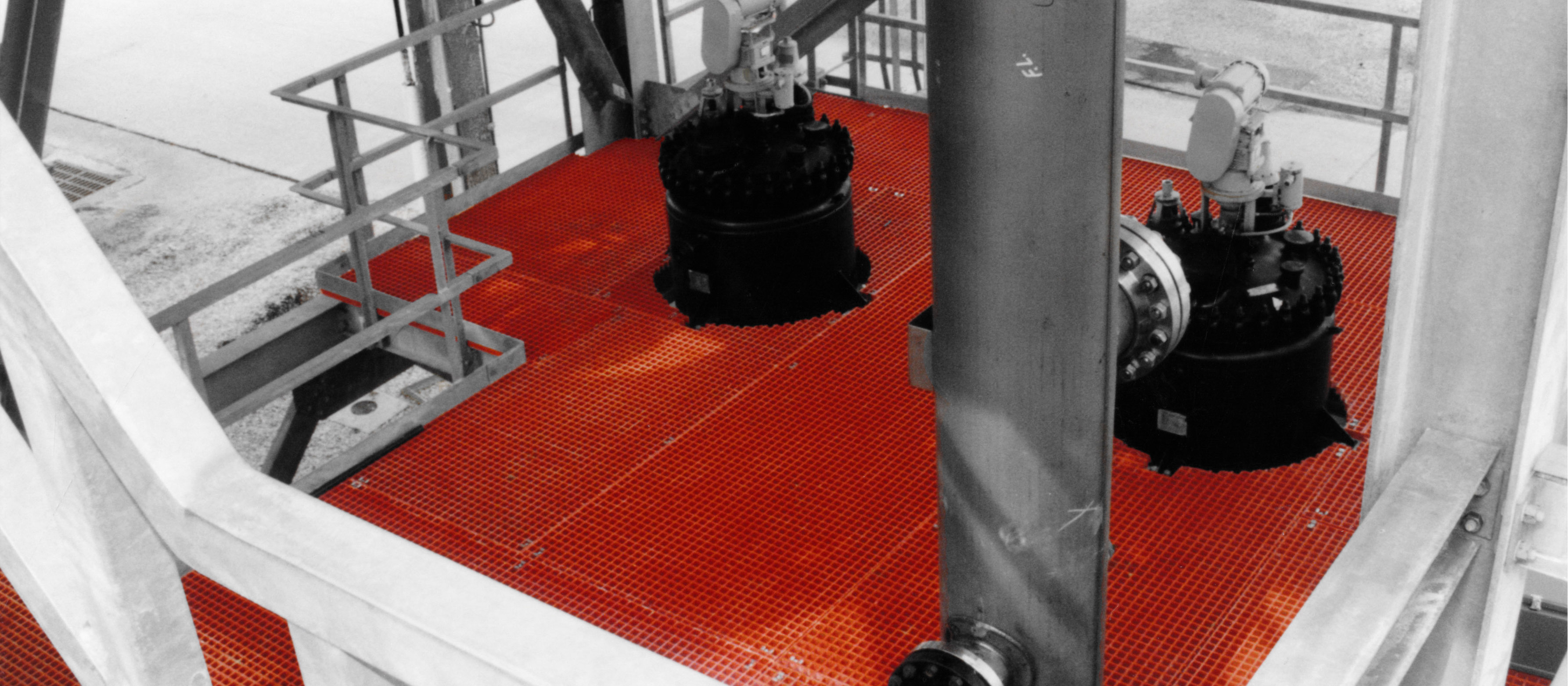 Corrosion Resistant Red GRP Moulded Grating