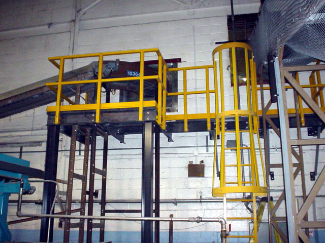 Fiberglass Reinforced Plastic Ladder in Food Processing Facility
