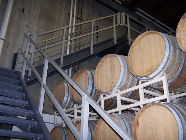 G R P railing in a Winery