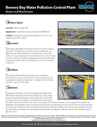 Bowery Bay FRP - Wastewater Treatment