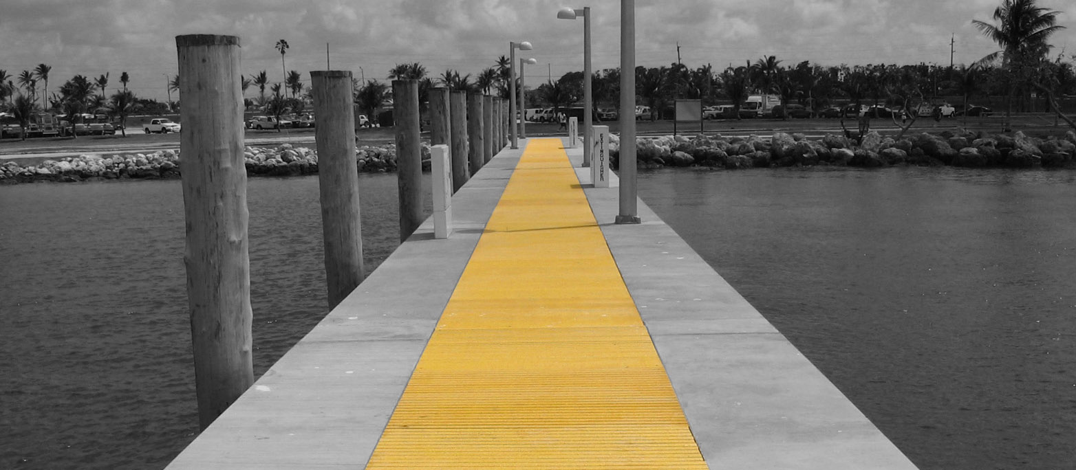 G R P Yellow Pultruded Dock